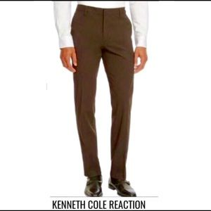 KENNETH COLE•Slim Fit Chocolate Dress Pant